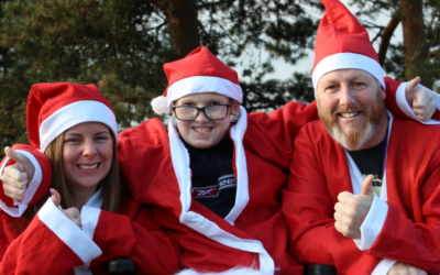 Students get set for Exeter Santa Run