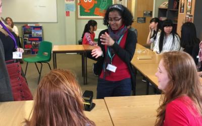 Rebekah teaches Deaf Awareness at local girl's school