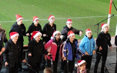Signed Christmas carols at St James Park