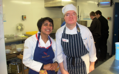 Andrew helps Exeter College achieve their AA Rosette!