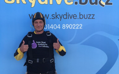 Gavin's Skydive For The New Deaf Academy